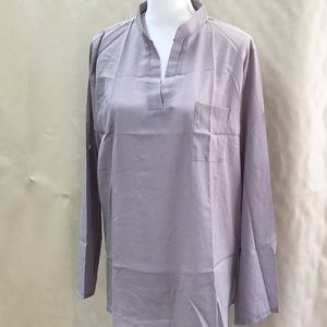Blouse. Size X-Large. Silver sheer fabric.